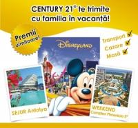 premii o excursie la Disneyland, un sejur în Antalya şi un week-end la Complex Phoenicia 5*