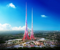 Turnurile Phoenix, simbol al orașulului Wuhan, din China
