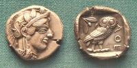 monede aur atena