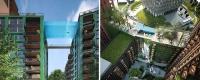 Asemănătoare unui acvariu uriaş sau unui pod neconvenţional, piscina de sticlă este una dintre multele facilităţi de care vor beneficia proprietarii unui apartament din Embassy Gardens
