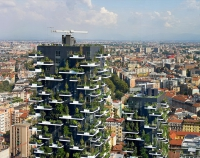Prima clădire din lume acoperită cu plante perene: un zgârie-nori cu locuințe, de aproape 120 metri