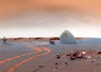 """Construcții pe Planeta Roșie: betonul """"marțian"""", un material revoluționar"""